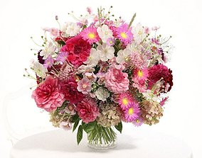 3D model Pink Flower Arrangement
