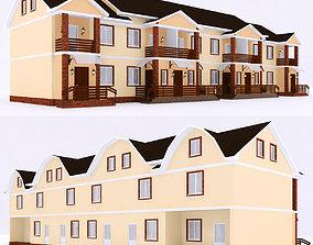 3D modern townhouse 3