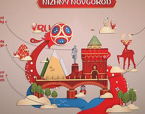 World Cup 2018 Russia host city NOVGOROD 3D asset