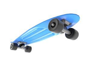 Retro Skateboard 3D asset