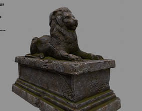 3D model Lion Statue 25