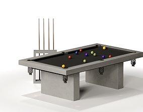 JAMES DE WULF Outdoor Billiard Table 3D