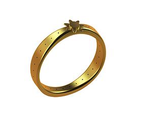Golden ring 3D print model 3d