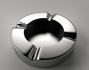 3D Ashtray Metallic