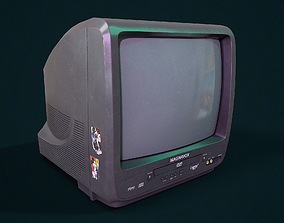 3D model realtime PBR Retro TV
