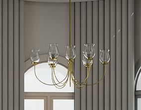 chandelier light 3D model lighting