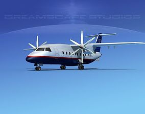 Dornier Do-328-130 United Express 3D