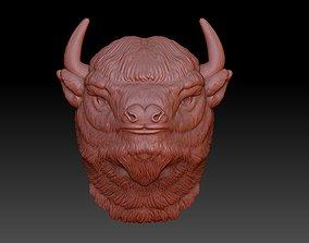the head of a Buffalo cnc 3D print model