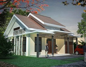 3D java traditional house
