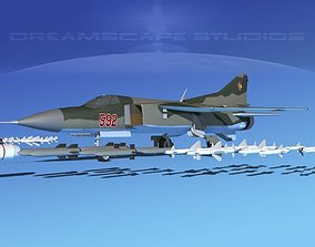 Mig 23 Flogger B V11 East Germany 3D model