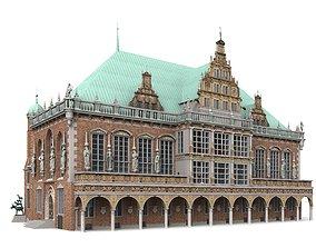 3D Town Hall of Bremen