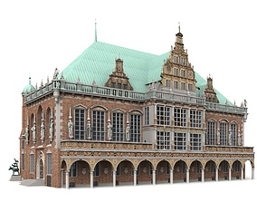 3D Town Hall of Bremen