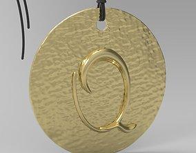 Alphabet Latin Q simbol 3D printable model