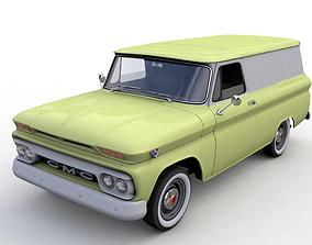 GMC PANEL TRUCK 1964 3D