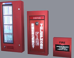 Fire Alarm System Low Poly 3D asset