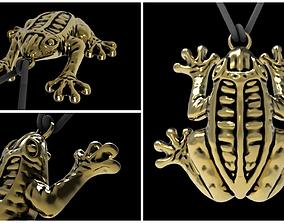 Beautiful pendant frog 3D printable model