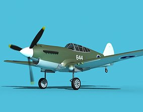 Curtiss P-40B Tomahawk V11 Australia 3D model