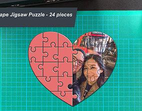 3D printable model Heart Shape Photo Jigsaw Puzzle