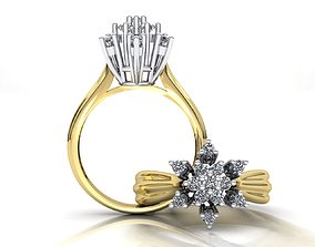 MGold039 Diamond Ring 3dmodel 3D print ready gold-ring