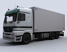 3D asset Medium Transport Truck