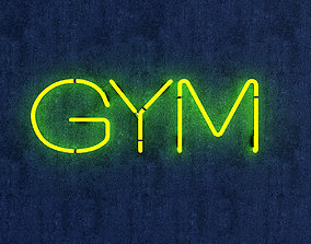 3D model Gym Neon Sign