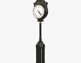 mechanical Street clock 3D model