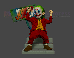 3D print model Joker Stylized Statue Movie DC Comic