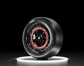 Car wheel BFGoodrich tire with SSR Formula Aero 3D model 1