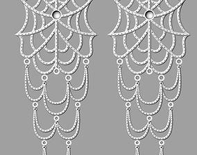 Spider Web Earring 3D printable model