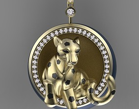 pendant panther jewelry 3D printable model