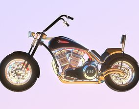 3D model Harley Davidson Chopper Custom