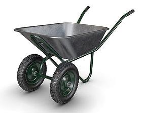 Wheelbarrow Green 3D