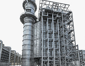 Gas Turbine Plant - Full Set 3D asset