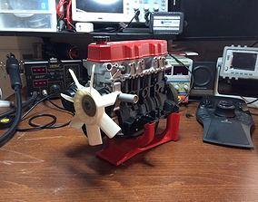 3D printable model Toyota 4 cylinder engine