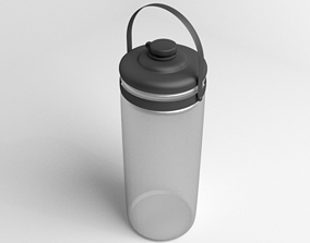 Multi-use Bottle Water with Handle 3D