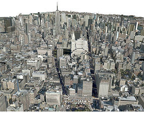 3D street USA City Manhattan