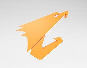 3D asset Aorus Logo v1 003