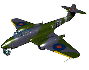 3D model Gloster Meteor F1