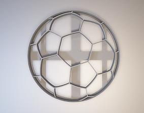 3D print model Soccer ball cookie cutter