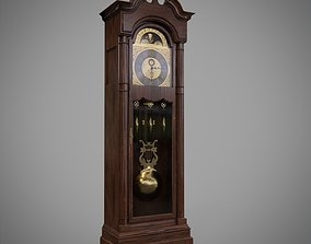 3D model low-poly Game Ready Grandfather Clock