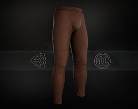 3D asset Brown Skinny Medieval Pants