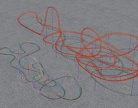 exterior-public 3D model TWO Rollercoaster