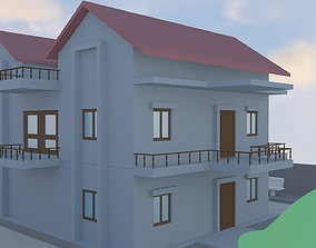 3D asset 3 BHK DUPLEX HOUSE