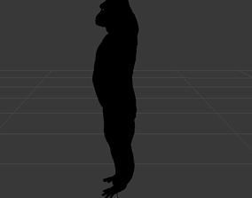 Black monkey 3D model