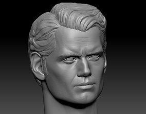 3D print model Superman DCEU Henry Cavill head