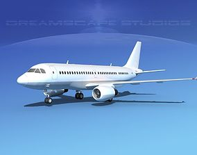3D Airbus A319 Unmarked 2