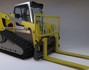 3D Rigged BobCAT Tracked Forklift
