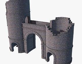 Castle Gate Ruins 3D asset