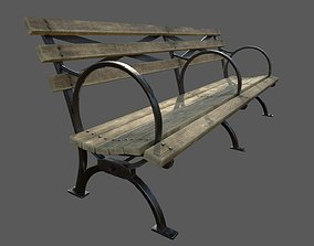 VR Park Bench 3D model