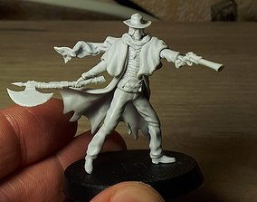 3D Father Gascoigne Bloodborne miniature 40mm